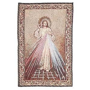 Tapisserie du Christ Misericordieux 32 x 48 cm
