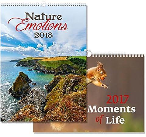 C173-17-18 Kalpa Wall Calendar 2018 Nature Emotions 24 x 33 cm + Buy 1 Get 1 free Calendar C141-17