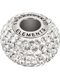 Grand Trou Perles de Verre a enfiler de Swarovski Elements 'BeCharmed Pave' 14.0mm (Crystal, Acier affiné), 1 Pièces