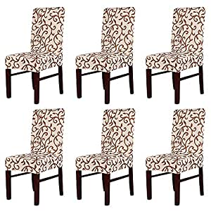 MultiWare Stretch Chair Seat Cover 2 4 6 Pcs Removable Washable Dining Room Stool