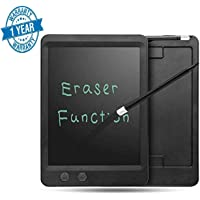Callas 8.5 Inch Both Full Erase and Partial Erase RuffPad E-Writer LCD with Magnet, Stylus Drawing Handwriting Board, Black