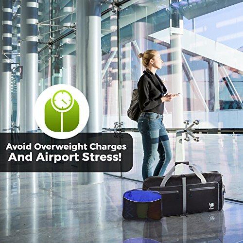 Luggage Packing Cubes 4pcs - Plus 6pcs Ziplock Bags - Deep Blue