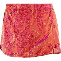 Salomon Gonna con pantaloncini da donna per la corsa, Agile Skort, Taffetà, Arancione, Taglia: XS, L40129000