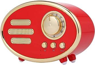 Docooler Vintage Wireless BT Lautsprecher Retro Stereo Bass Subwoofer Tragbare Sound Box Unterstützung FM Radio TF AUX-IN Musik Spielen Freisprecheinrichtung mit Mikrofon