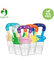 NEPEE Silicone Baby Fresh Fruit Food Feeder/Pacifier Feeder Nibbler/Fruit Dummy (Multicolour) Pack of 1