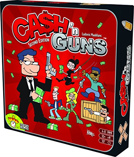 Asmodee 692255 - Brettspiel - Cash'n Guns