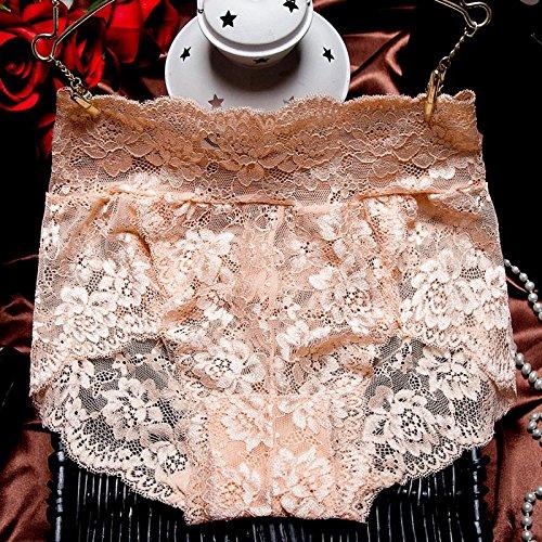 RRRRZ*In sexy Unterwäsche spitze Taille Weiblich Herbst und Winter Versuchung für größere Ihr Abdomen transparent 3 Ecken aus reiner Baumwolle Hosen leben ,L, Farbe