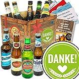 Danke ♥ Bier Paket mit Bieren der Welt ♥ Bier Geschenk