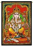 Multicolour indischen Hänge Baumwolle Tapestry Lord Ganesha Poster Wandteppiche 42