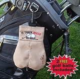 MySack - Borsa per palle da golf, con scritta It Takes Balls To Golf (Ci vogliono le palle per giocare a golf)