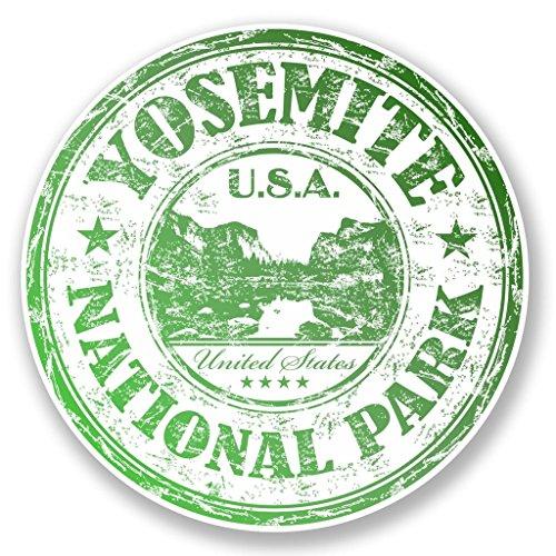 Preisvergleich Produktbild 2 x 10cm/100mm Yosemite National Park USA Vinyl SELBSTKLEBENDE STICKER Aufkleber Laptop reisen Gepäckwagen iPad Zeichen Spaß #6512