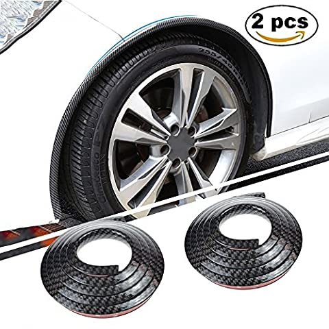 Car Wheel Arch Trim -AUTOMAN 2PCS 4.9FT Carbon Fiber Fender Anti-scratch Bumper Protector Lip Protection Stickers (1.5m Wheel Arch Trim Carbon