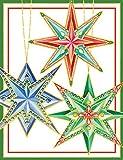 Caspari mit Sterne Weihnachten Karten (Box 16Stück), grün
