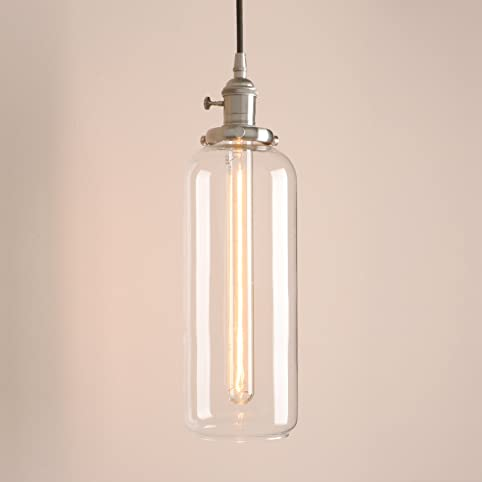 Pathson industrial vintage pendant light loft bar ceiling light pathson industrial vintage pendant light loft bar ceiling light fittings clear glass lampshade hanging lamp fixture chandelier for kitchen island living mozeypictures Image collections