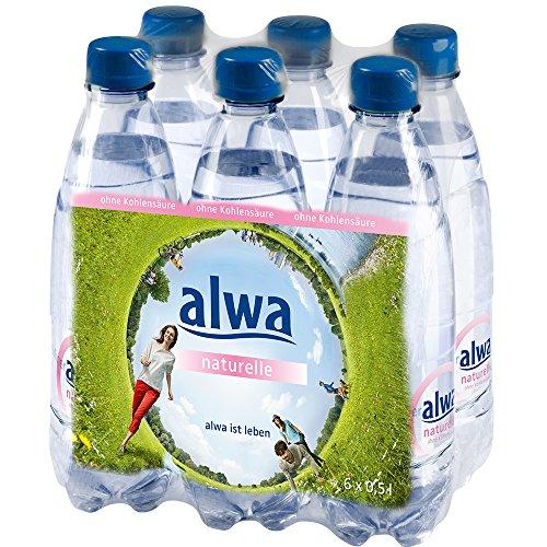 alwa Mineralwasser naturelle ohne Kohlensäure, EINWEG 6 x 0.5l