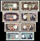 *** 50 - 1000 Lire Serie -1896 - 1897 - italienische Lire - 4 alte Banknoten - alte italienische Währung - Reproduktion ***