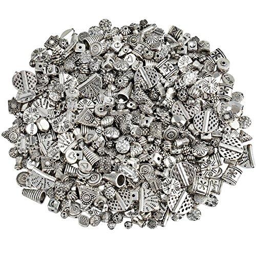 KYEYGWO 230 Gramm Verschiedene Legierung Perlen Spacer, Tibetischen Stil Europäischen Perlen für Schmuck DIY Machen Armbänder Charms