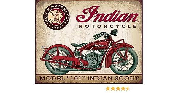 Indian Motorcycles Better Stories Blechschild Flach Neu aus USA 31x40cm mit Bset