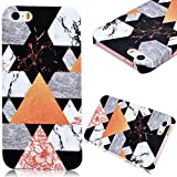 iPhone 7 Case, GrandEver Hard PC Case for Apple iPhone 7 High Quality Plastic Back Cover Triangle Stitching Color Flower Pattern Design Flexible Nice Back Case Rigid Protective Shell for Apple iPhone 7 (4.7