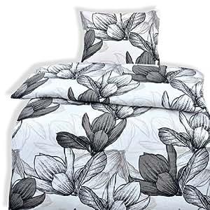 2-Teilige hochwertige Renforcé-Bettwäsche Set Miriam 1x 135x200 Bettbezug + 1x 80x80 Kissenbezug , 100% Baumwolle