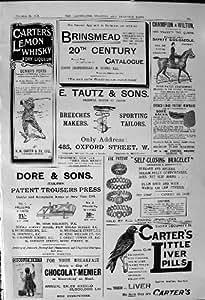Presse 1900 de Pantalon de Dore de Whiskey de Brinsmead de Pilules de Foie de Carters de Publicité