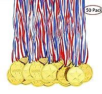 Ensemble de 50 médailles de vainqueur en plastique doré avec cordon, idéales pour les jeux de fête pour enfants Prizzes Gifts Awards     Spécifcation   Nom du produit: médailles d'or des gagnants  Matériau: plastique  Couleur: or  Taille: 3.7cm  Poi...
