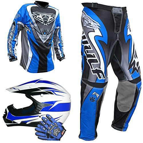 Leopard LEO-X16 Kids motocorss Helmet&Gloves set+ Wulfsport, used for sale  Delivered anywhere in UK