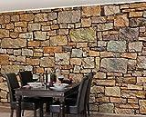 Apalis Stein-/Vliestapete Croatia Stonewall, Fototapete Breit | Vlies Tapete Wandtapete Wandbild Foto 3D Fototapete für Schlafzimmer Wohnzimmer Küche | 320x480 cm, braun, 98573