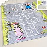 mynes Home Waschbarer Kinderteppich Anti-Rutsch Teppich Kinderzimmer Uni Junge Mädchen Spielteppich Straße Hüpfspiel Kinder (160cm x 230cm)