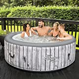 Best Hot Tubs - CleverSpa NEW Waikiki 6 Person Round Inflatable Hot Review