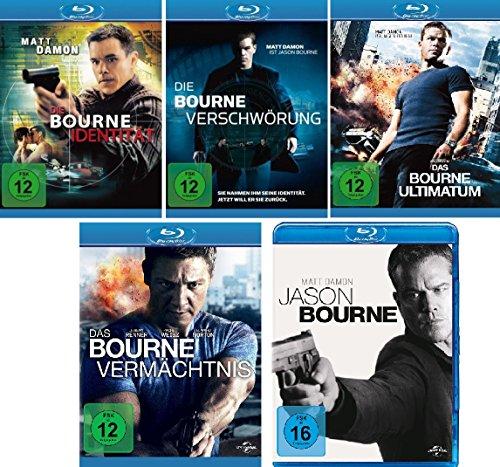 Bourne 5-Blu-Rays (die Bourne Identität, die Bourne Verschwörung, das Bourne Ultimatum, das Bourne Vermächtnis, Jason Bourne) im Set - Deutsche Originalware [5 Blu-rays] (Blu-ray Bourne Das Ultimatum)