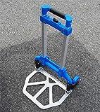 ELEGENCE-Z Carrello Pieghevole Pieghevole Per Trolley - Capacità 90 Kg - Alluminio (Blu)