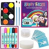 Palette de Maquillage de Fête ou d'anniversaire pour filles, enfants et adultes - soluble dans l'eau, non toxique, inoffensif, pour déguisement