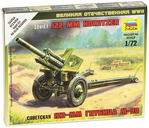 ZVEZDA Soviet Howitzer 120mm M30 Snap Kit 1:72 - Model Kit Z6122 by Zvezda