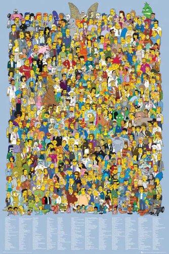 Empire Interactive - Poster dei Simpson, con personaggi, accessori inclusi multicolore