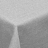 amp-artshop Tischdecke Leinen Optik Eckig 110x180 cm Hellgrau- Farbe , Form & Größe wählbar mit Lotus Effekt