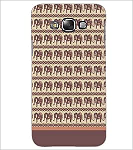 PrintDhaba Elephant Pattern D-1904 Back Case Cover for SAMSUNG GALAXY E7 (Multi-Coloured)