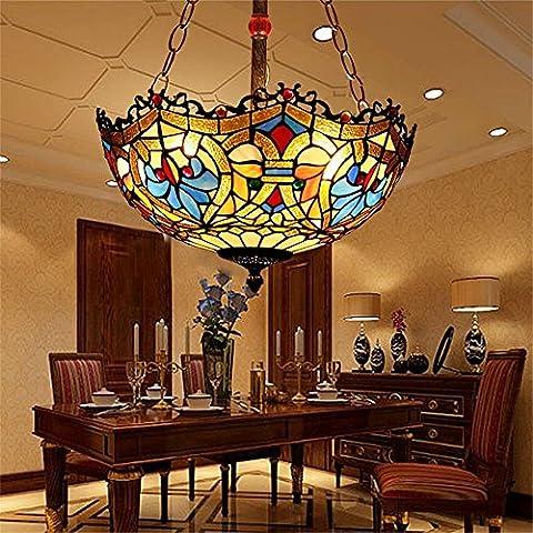 16Lampes Tiffany chambre salon européenne Retro Creative terrasse couloir Restaurant lustre pour Art Deco
