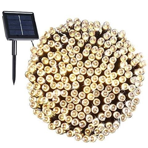 200 LED, 22 Mètres de Guirlande Lumière Solaire Imperméable, 8