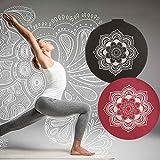 Meditationskissen Yogakissen 'Celine Madeleine' mit Stickerei Bezug waschbar,...