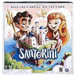 Spin Master Santorini-Strategy-Based Board Game, Colore Blu, 6040699