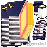 Filterset Inspektionskit 6x Beru Zündkerze 1 Pollenfilterset ( 1 Verpackungseinheit= 2 Stück) 1 luftfilter 1 Ölfilter 1 Ölablassschraube