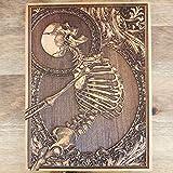Stumble the Skeleton - Wooden Engraved Art, Unique Design by Engravers Dungeon - 20 x 15 cm