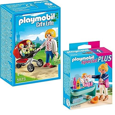 Playmobil ville City Life Set des 2-partes 5573 Maman avec