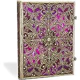 Paperblanks Collection Filigrane Argenté Aubergine Ultra Carnet de note Ligné 240 pages Multicolore