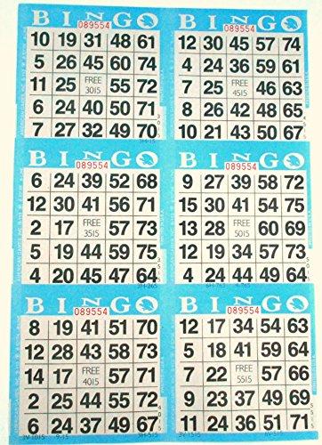American Games 6 auf blauem Bingo-Papier - 500 Blatt - 3000 Karten