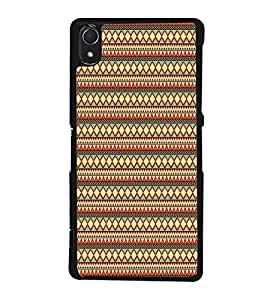 Fuson Manipuri Art Pattern Designer Back Case Cover for Sony Xperia Z3 :: Sony Xperia Z3 Dual D6603 :: Sony Xperia Z3 D6633 (Ethnic Pattern Patterns Floral Decorative Abstact Love Lovely Beauty)