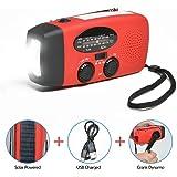 Odoland Radio Multifunktion Outdoor Radio –Taschenlampe+Radio+Powerbank Handy-Lader, tragbar Kurbel/Dynamo+Solar+Standard/Mini USB, Kurbelradio FM/AM Notfallradio