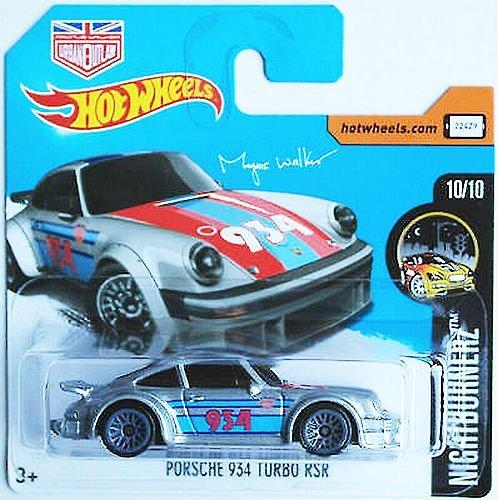 Preisvergleich Produktbild HOT WHEELS® Porsche 934 Turbo RSR - 1:64 (Porsche's GT-Rennwagen / HW-Edition Night Burnerz, Magnus Walker 2017)