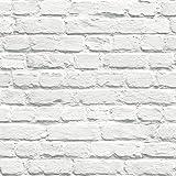 Muriva Papier peint briques blanches (photo Paint 102539)